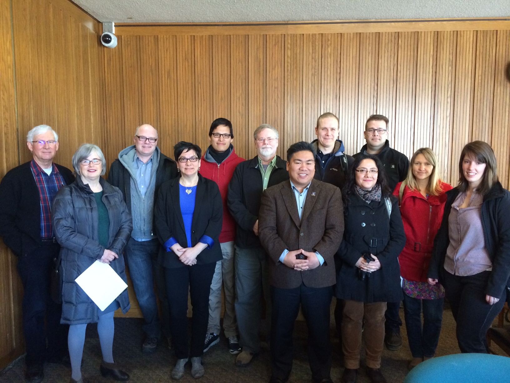 Councillors Gerbasi and Paktaghan and attendees at the April 14th Winnipeg Housing Steering Committee Meeting