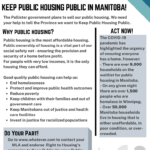 Keep Public Housing Public in Manitoba